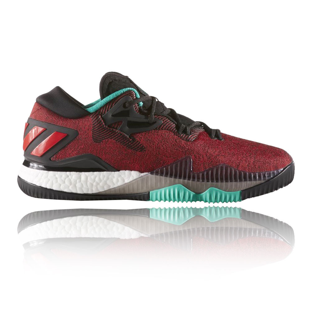 cfe254ed97f8 adidas Mens Crazylight Boost Low Court Shoes Red Basketball Sports ...