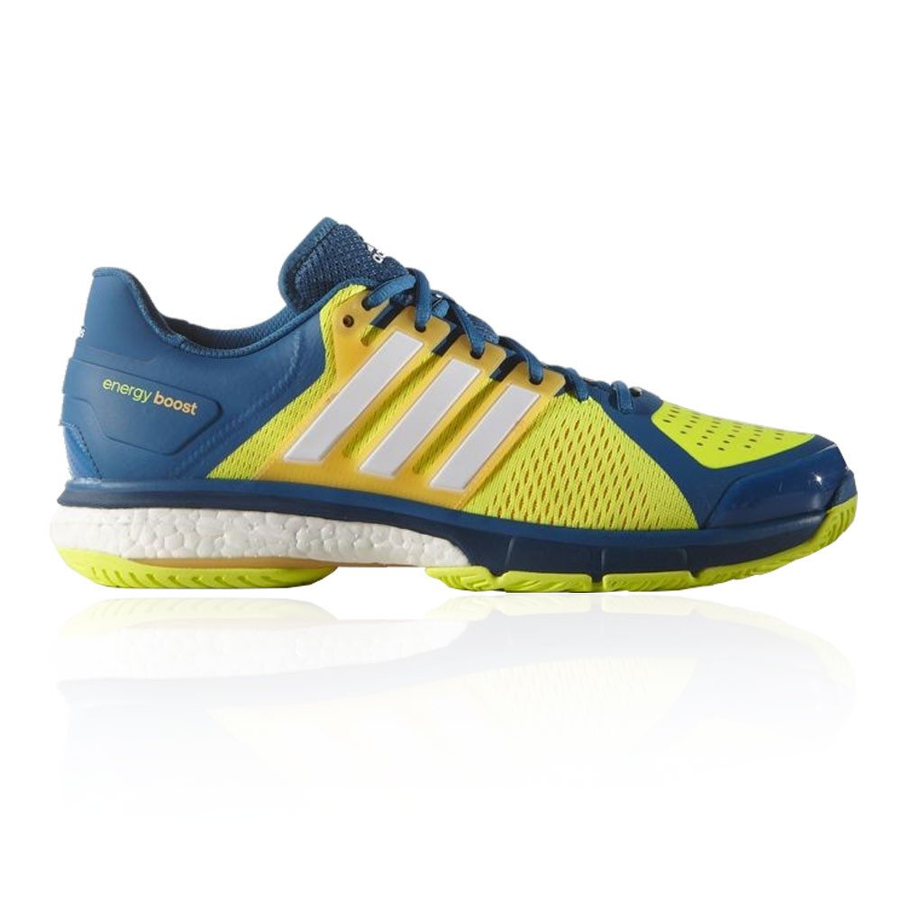 hot sale online c59dc b3189 adidas Mens Energy Boost 3 Tennis Shoes Blue Yellow Sports Trainers  Lightweight