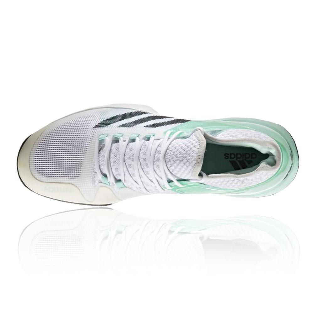Détails sur Adidas Hommes Vert Adizero Ubersonic 2 Tennis Chaussures De Sport Baskets