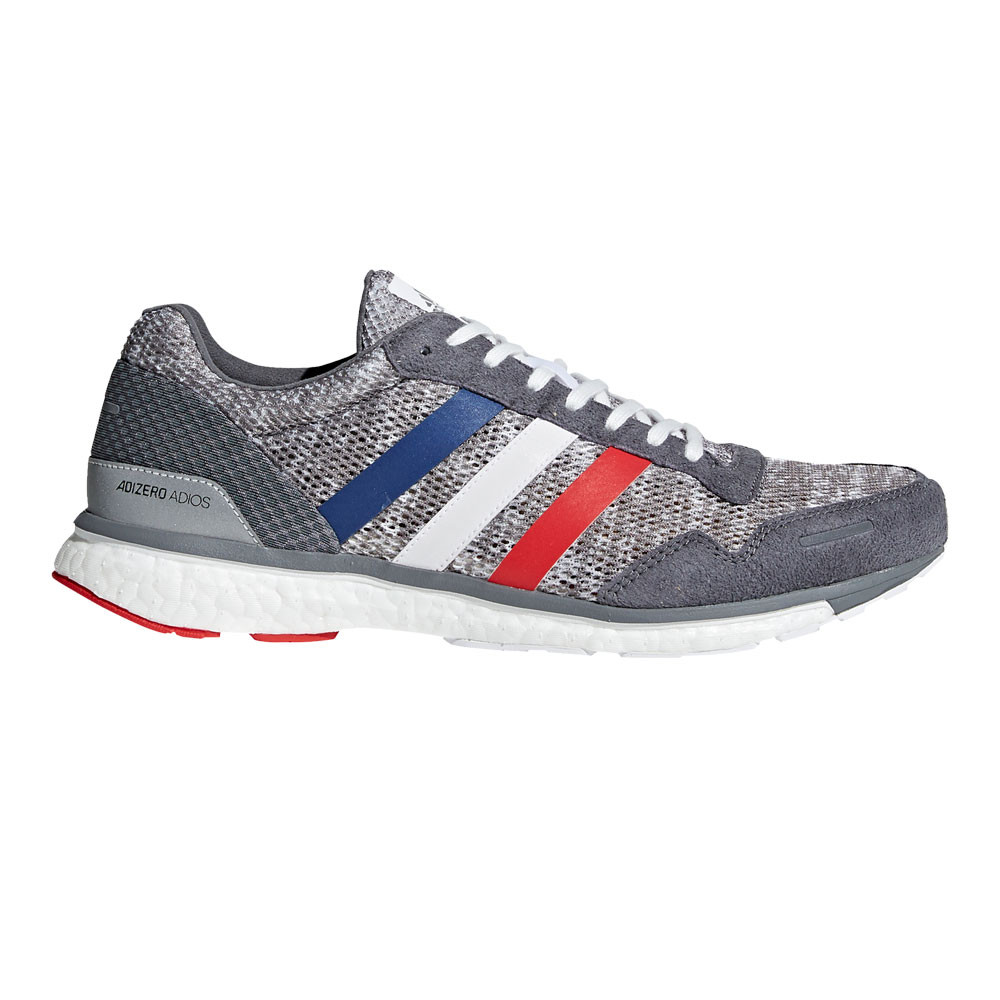 adidas Mens Adizero Adios 3 AKTIV Shoes Grey Sports Running Breathable  Trainers