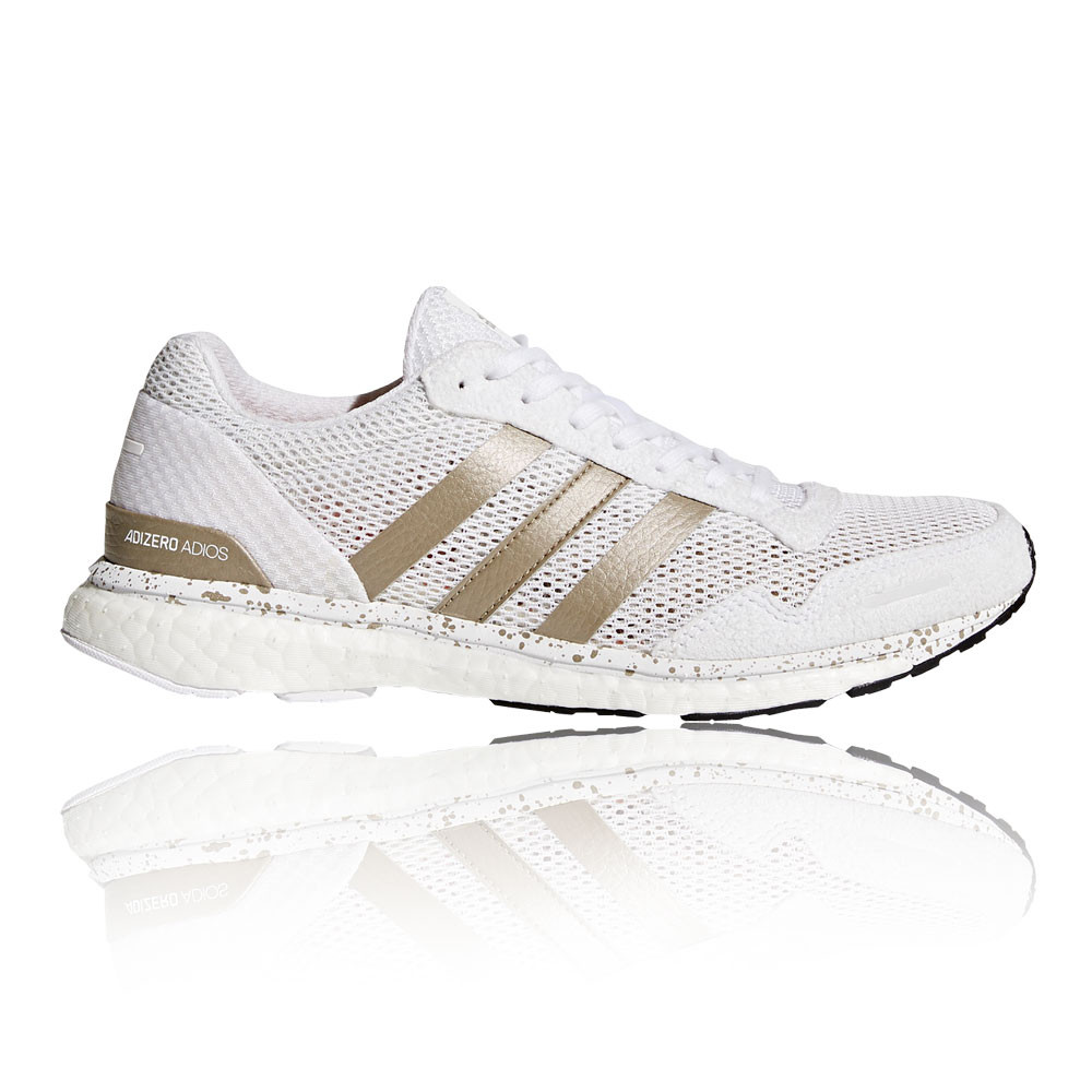 64c253d3f9b Details about adidas Womens Adizero Adios Running Shoes Trainers Sneakers  White Sports