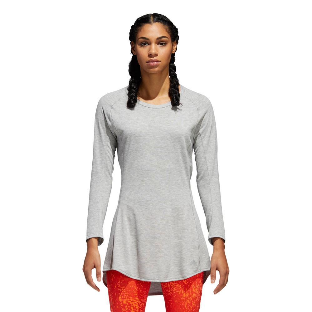 adidas Womens Pure Dress Grey Sports Gym Breathable Reflective Lightweight b18c3b43775