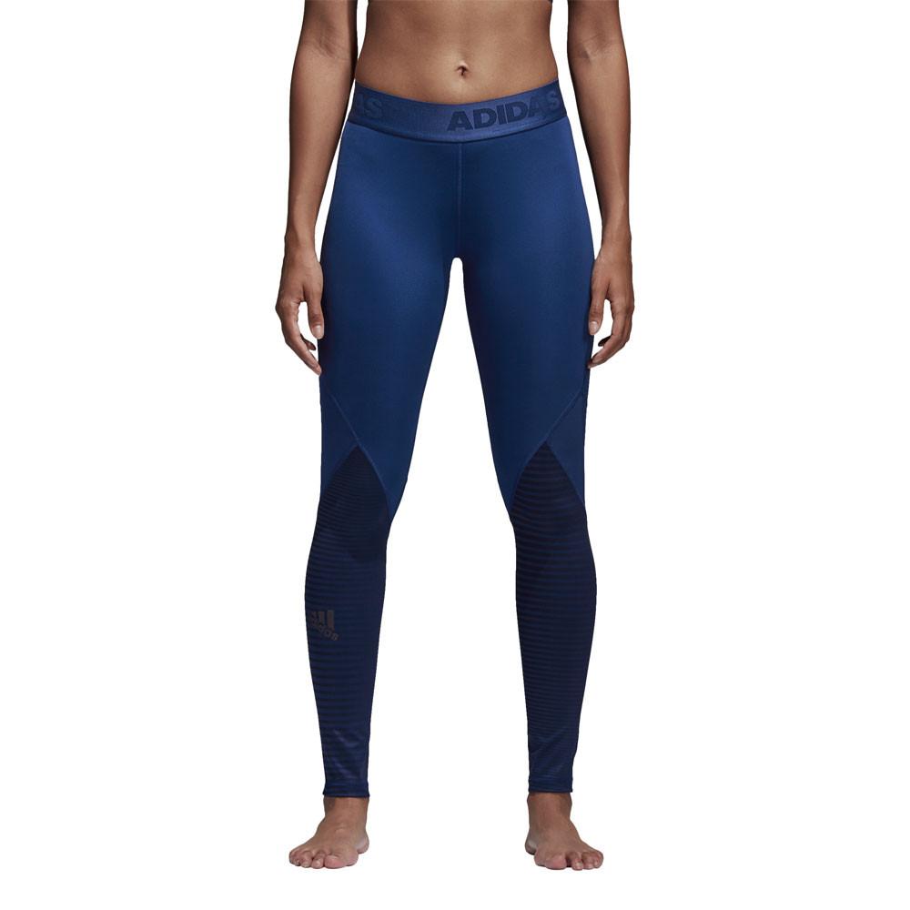 adidas damen alphaskin sport lang tight blau jogginghose. Black Bedroom Furniture Sets. Home Design Ideas