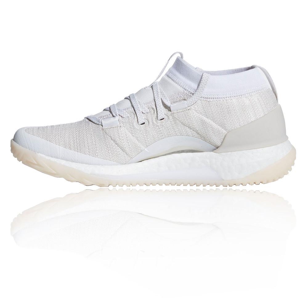e56848d6d3e74 adidas Womens PureBOOST X TR 3.0 Shoes White Gym Breathable ...