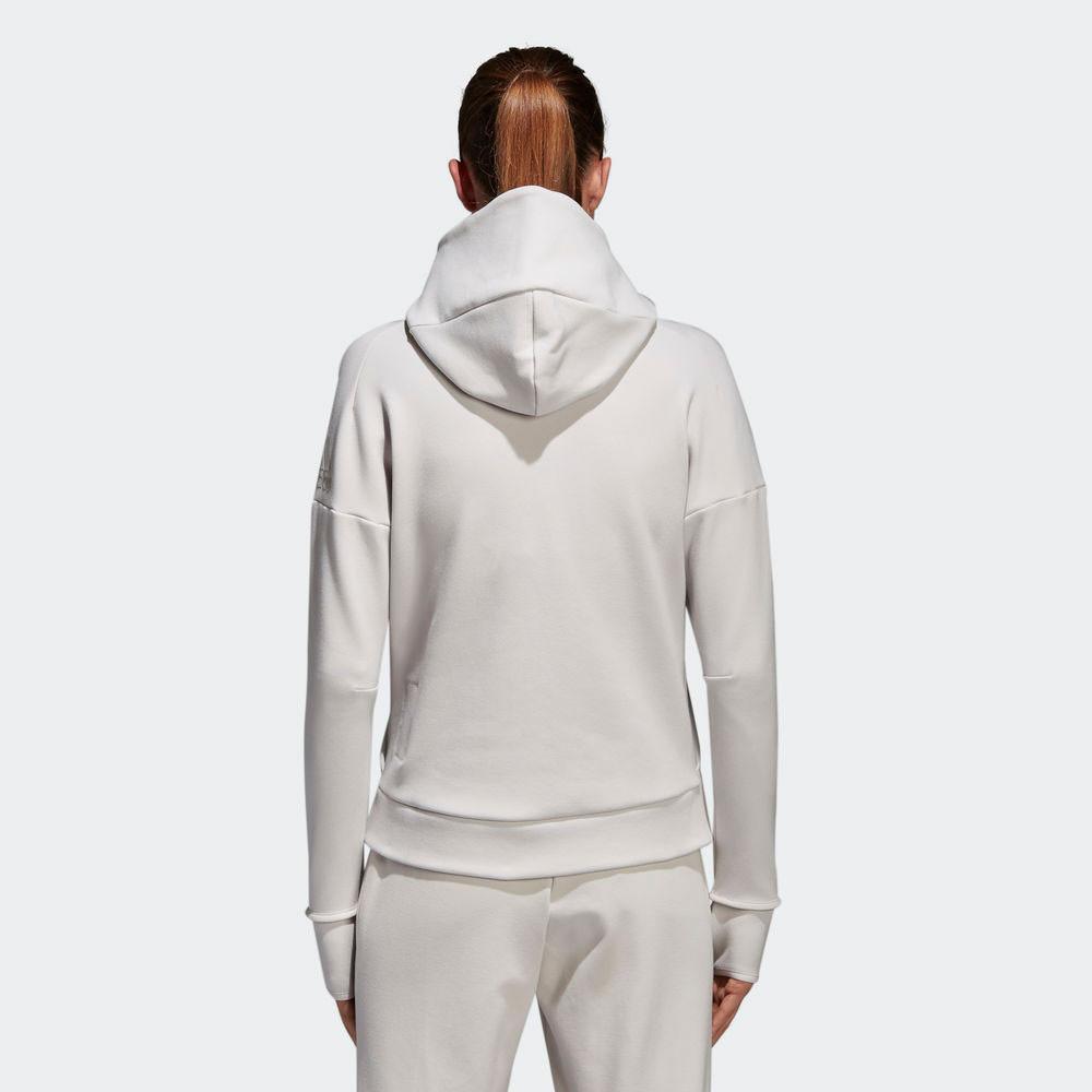 Sweat Capuche Sport Zne Blanc Top Sweater Femmes Sports 2 À Adidas SEn64qwq