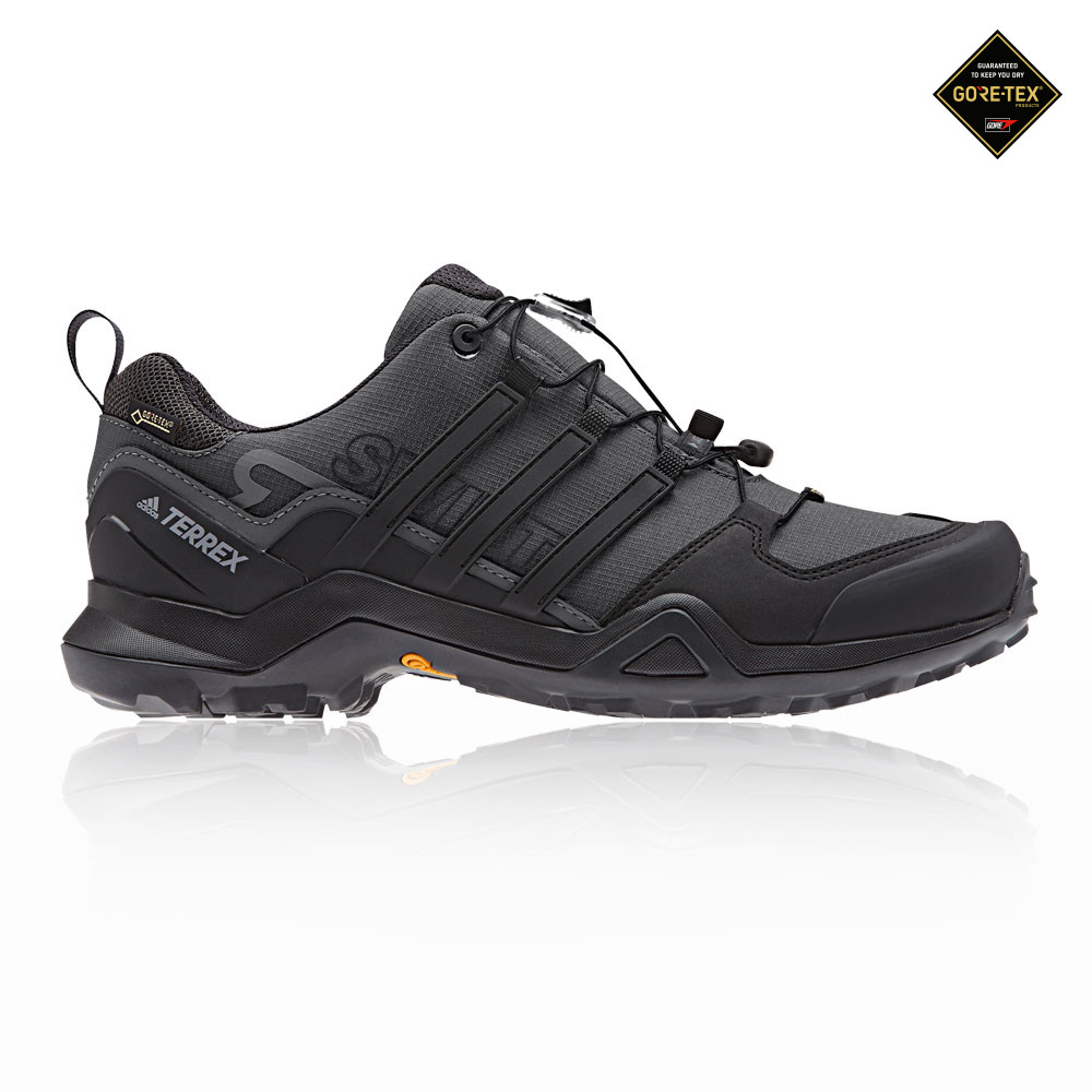 c28adb3a7 Details about adidas Mens Terrex Swift R2 GORE-TEX Walking Shoes Black Grey  Sports Trainers