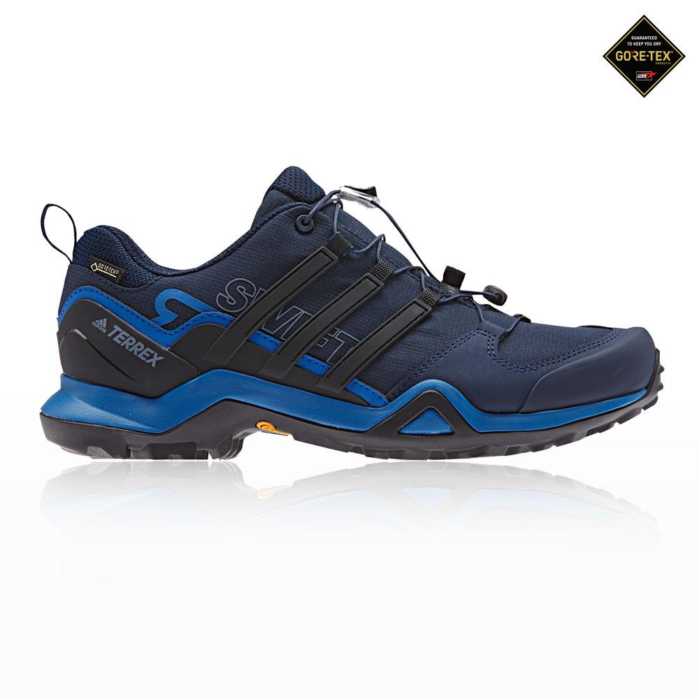 Details about adidas Mens Terrex Swift R2 GORE-TEX Walking Shoes Black Blue  Sports Trainers 9391e07fc