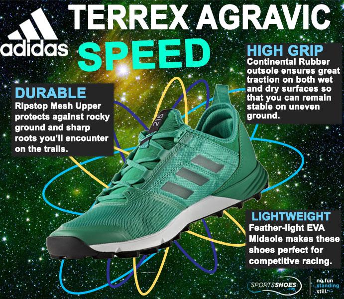 adidas terrex agravic velocità pista scarpe da corsa aw18 18%