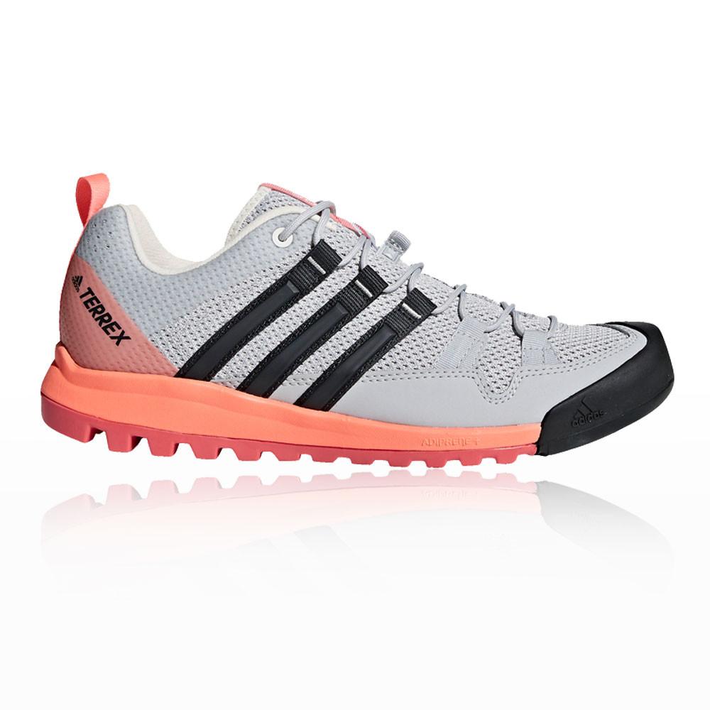 purchase cheap 145fc d71b4 adidas Mujer Terrex Solo Caminar Zapatos Gris Naranja Rosa Deporte Exterior