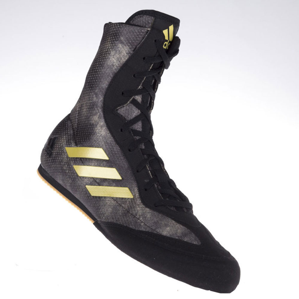 detailed look 1b052 9e227 adidas Mens Box Hog Plus Boxing Shoes Black Grey Sports Lightweight Trainers