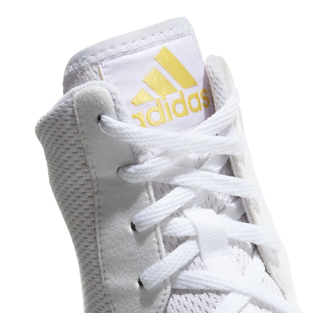 get cheap 44d71 2244f adidas Mens Box Hog Plus Boxing Shoes White Sports Lightweight Trainers