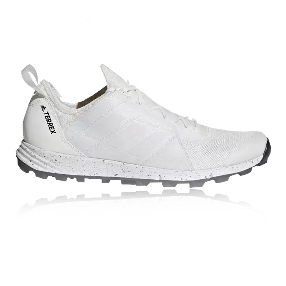 save off 2cdea 34a5e Adidas Mujer Terrex Agravic Speed Sendero Correr Zapatos Zapatillas Blanco