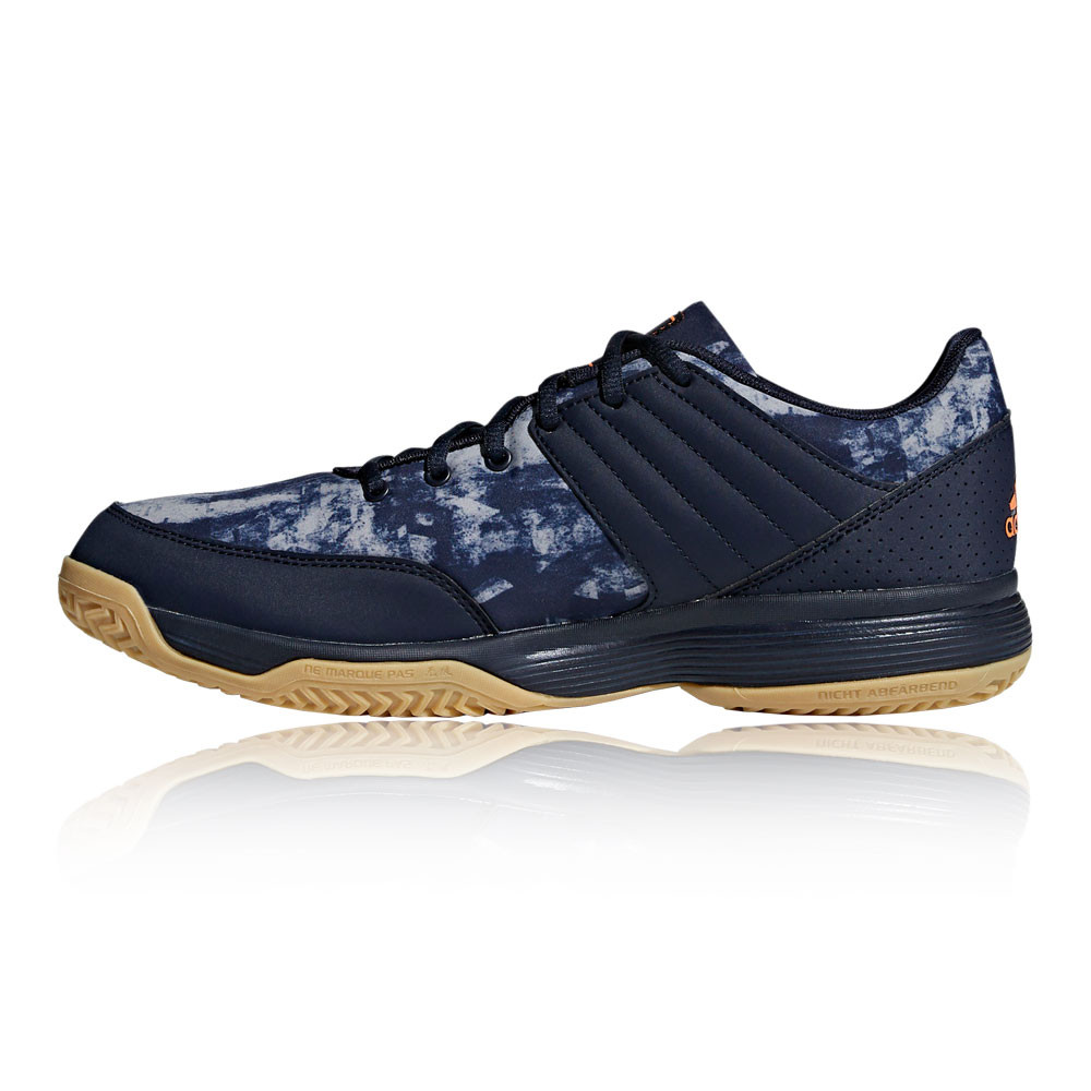 8827c3fb194d2c adidas Mens Ligra 5 Indoor Court Shoes Navy Blue Sports Badminton Handball