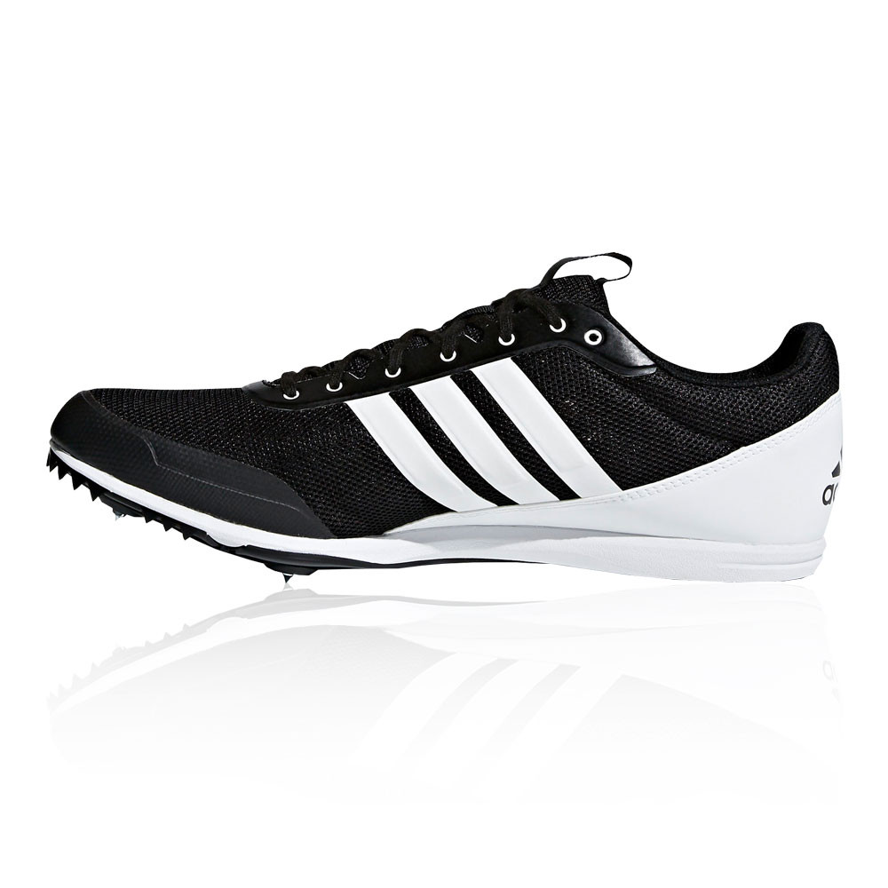 adidas Mens Distancestar Running Spikes Traction Black Sports Breathable. Adidas  Mens Performance Pro Model Basketball Shoe ... 75d822a66