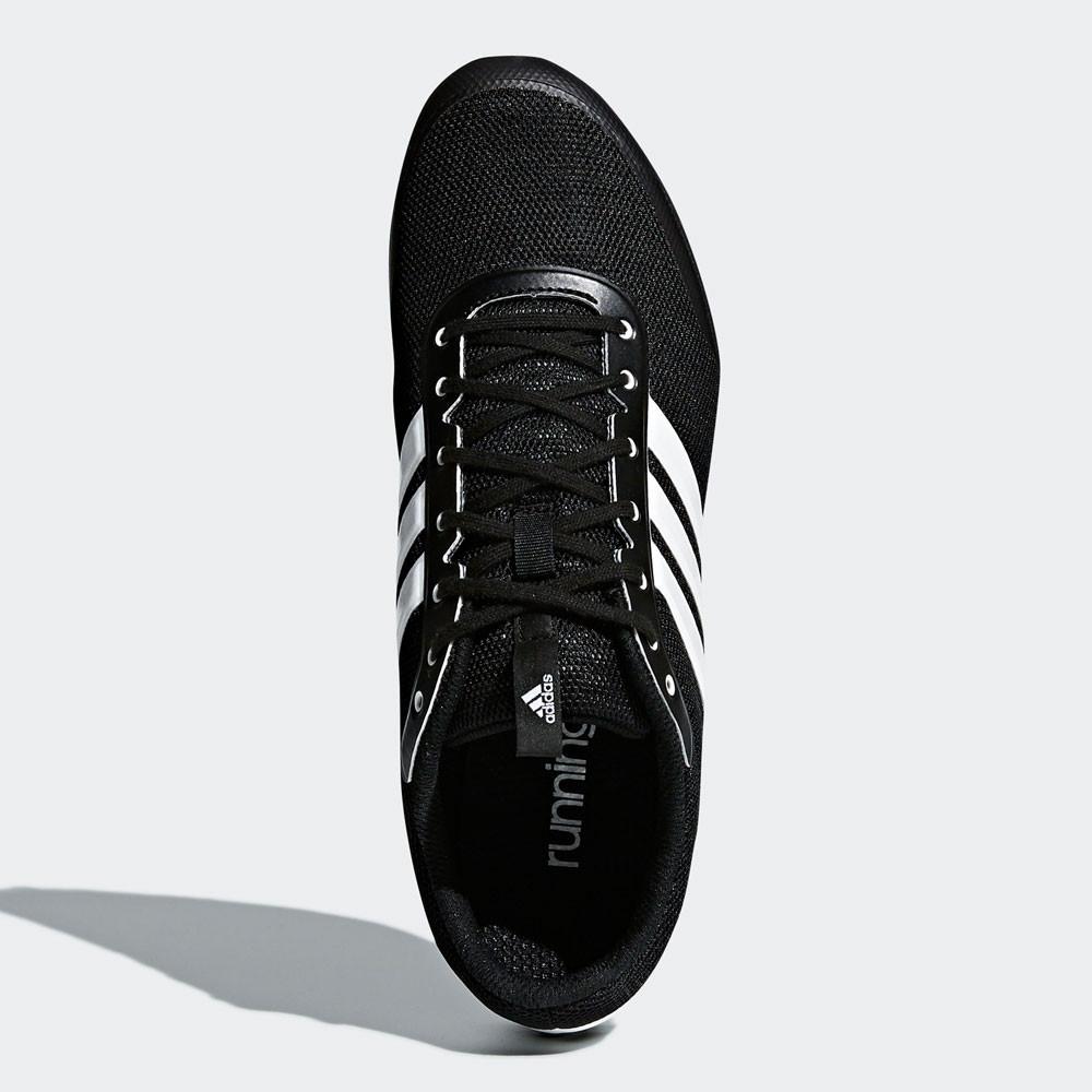 brand new ded59 e79f2 Adidas Hommes Distancestar Chaussures De Course À Pointes Athlétisme Noir