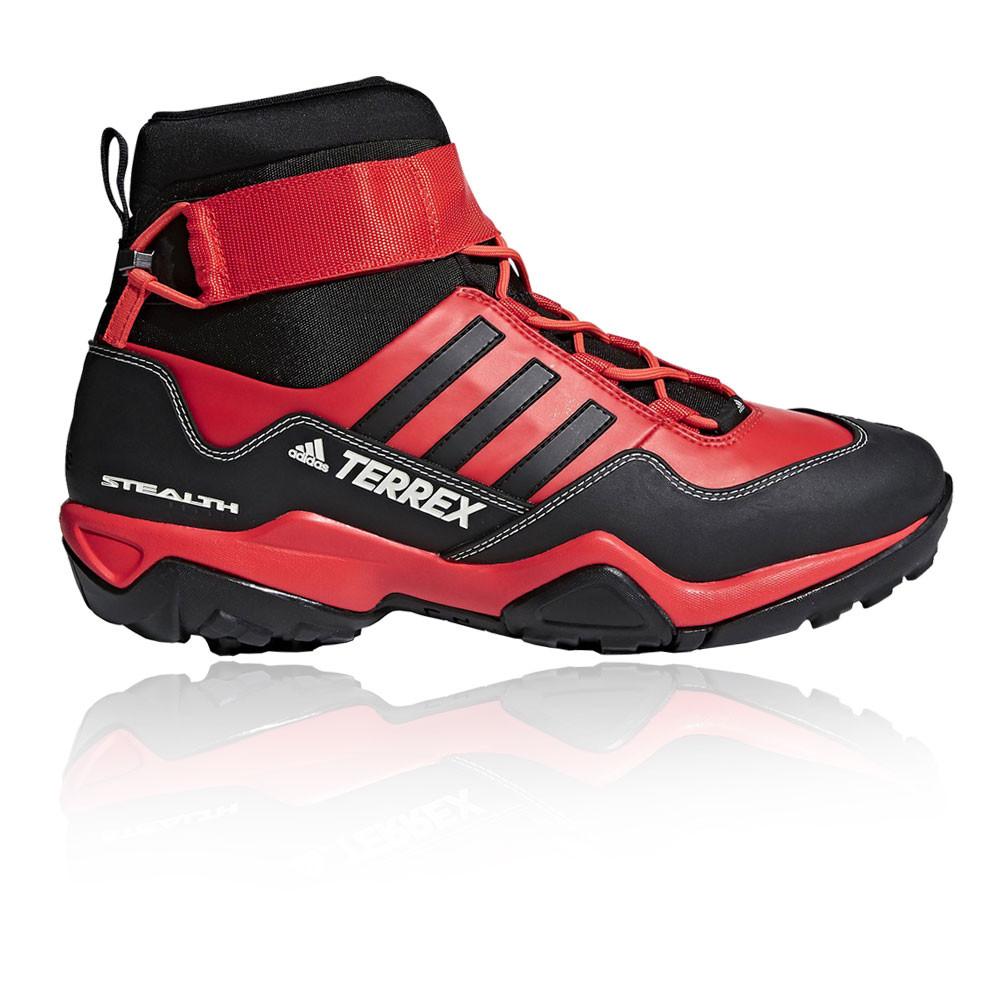 new styles 410d3 bdfee adidas Hombre Terrex Hydro Cordones Botas Negro Rojo Deporte Entrenar  Deporte