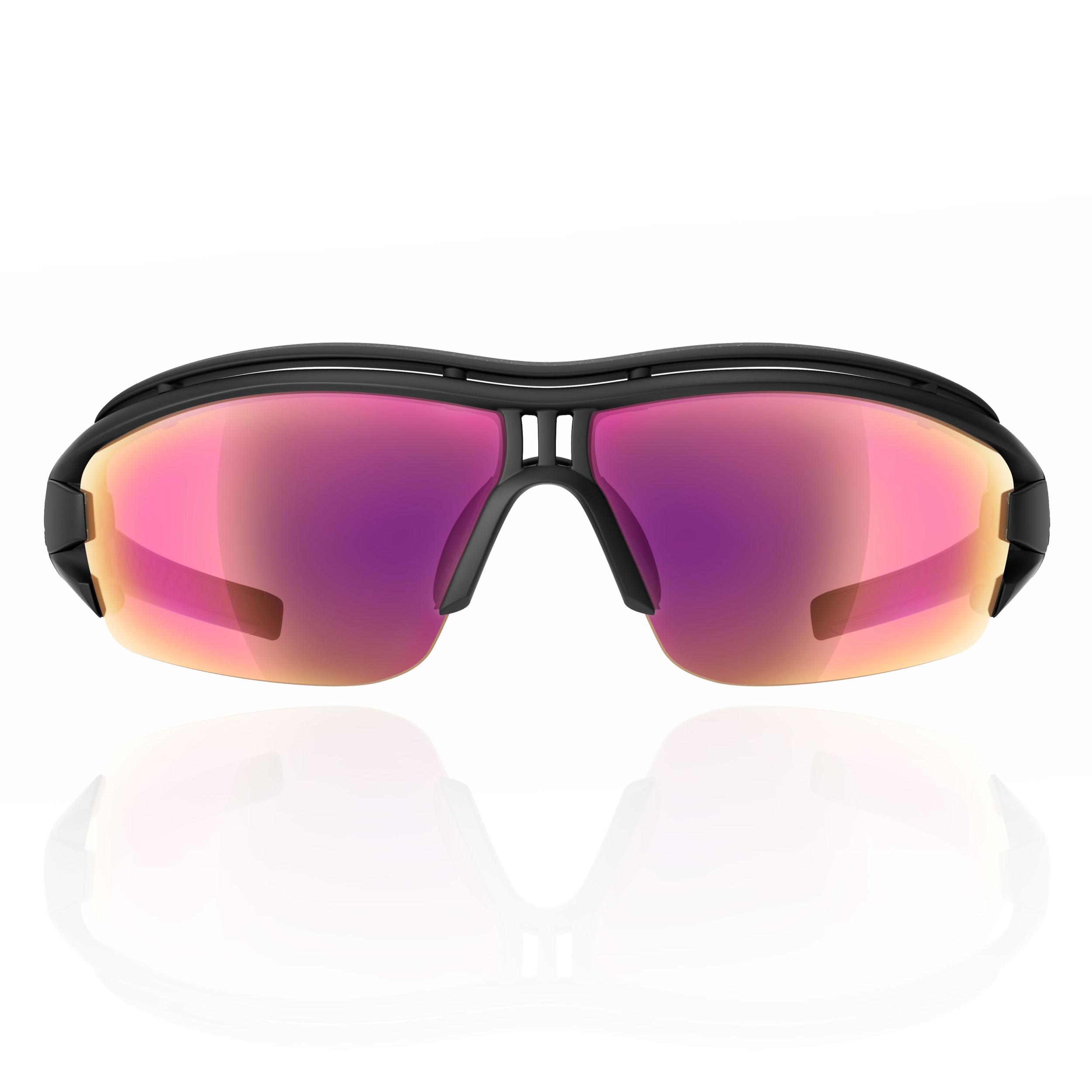 255917a65c5d5 adidas Unisexe Evil Eye Halfrim Lunettes De Soleil Sports Cyclisme Jogging  Noir