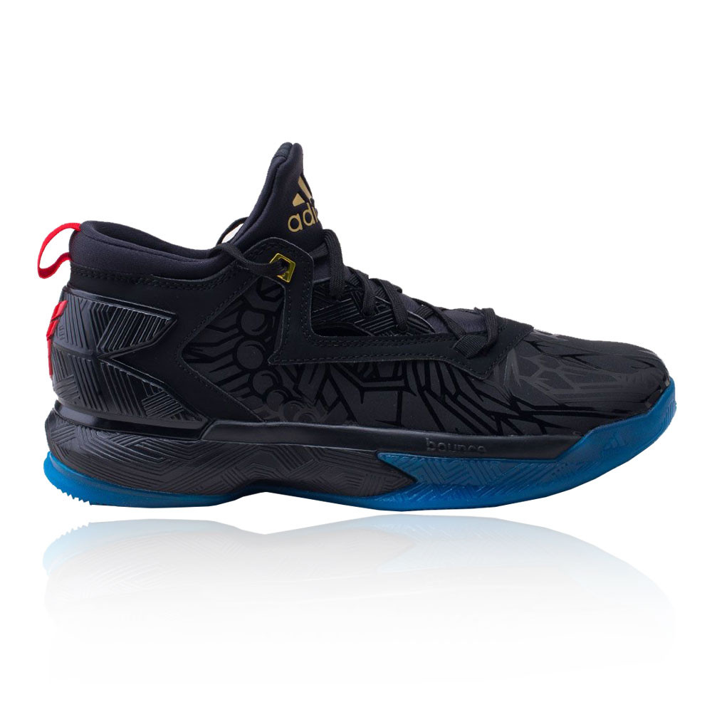the latest fe9ac 6d72f Details about adidas Mens D Lillard 2.0 Basketball Shoes Black Blue Sports  Breathable