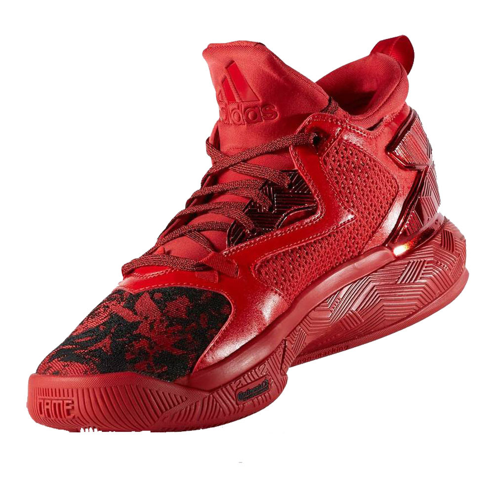 info for 308ce d8392 adidas Mens D Lillard 2.0 Basketball Shoes Red Breathable Lightweight  Trainers