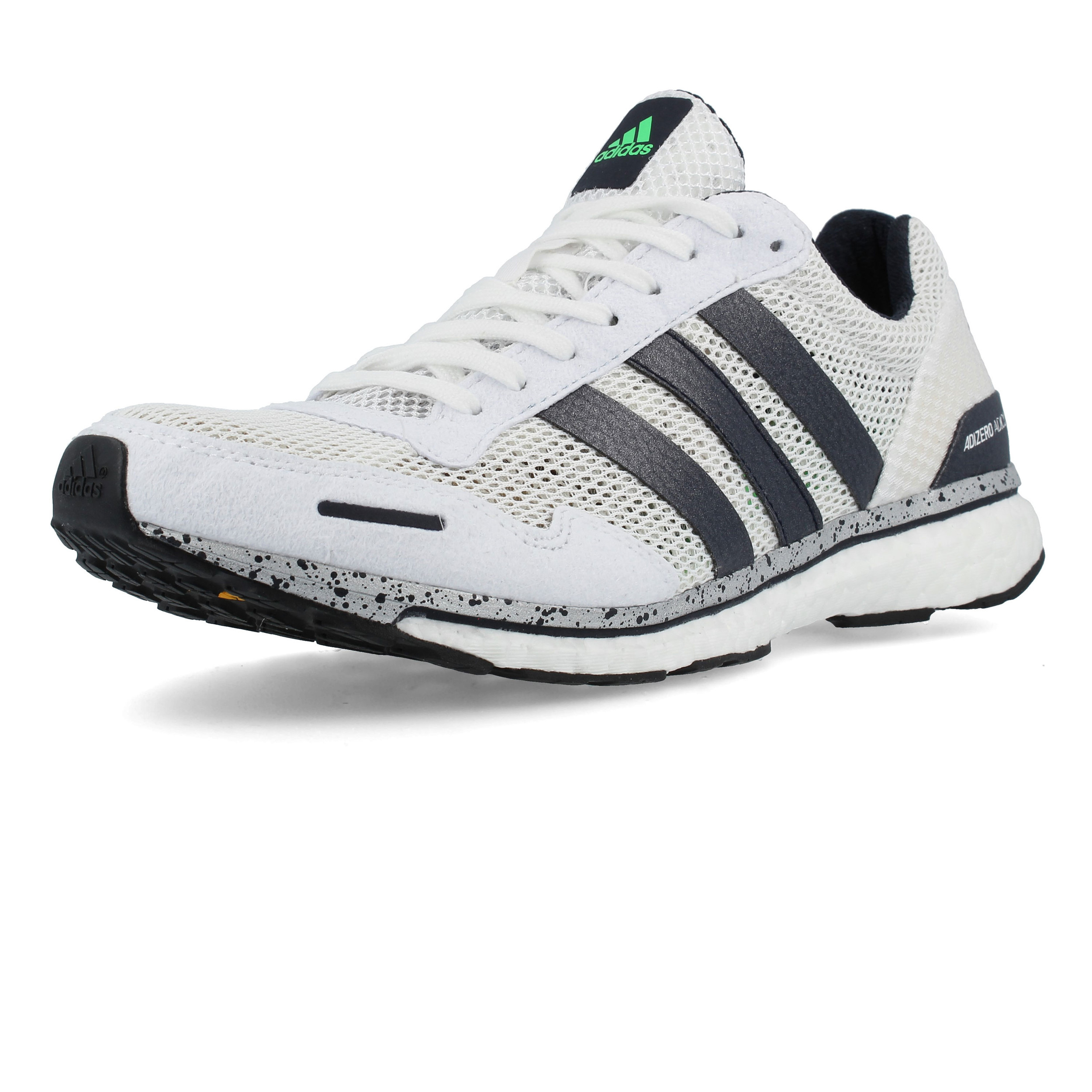 online store 59248 16d56 adidas Mens Adizero Adios 3 Running Shoes Trainers Sneakers White Sports