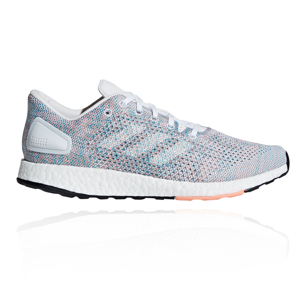 huge selection of f3c8d b20ba Details about adidas Womens PureBoost DPR Running Shoes Trainers Sneakers  Blue Pink White