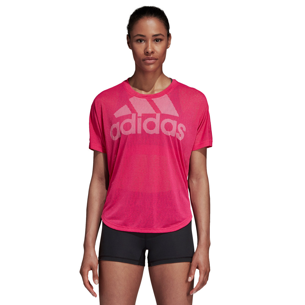 Adidas Femmes Magic Logo Tee T-Shirt Manche Courte Rose Sport Gym Respirant 349f14f9d41