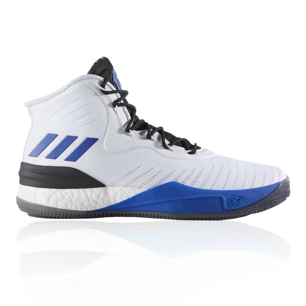 size 40 1bc9a 71a89 adidas Mens D Rose 8 Basketball Shoe Black Blue White Sports Breathable