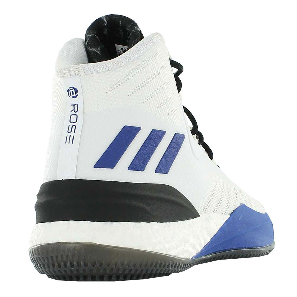 new product 30337 6bf5a adidas Hommes D Rose 8 Basketball Chaussures De Sport Baskets Noir Bleu  Blanc