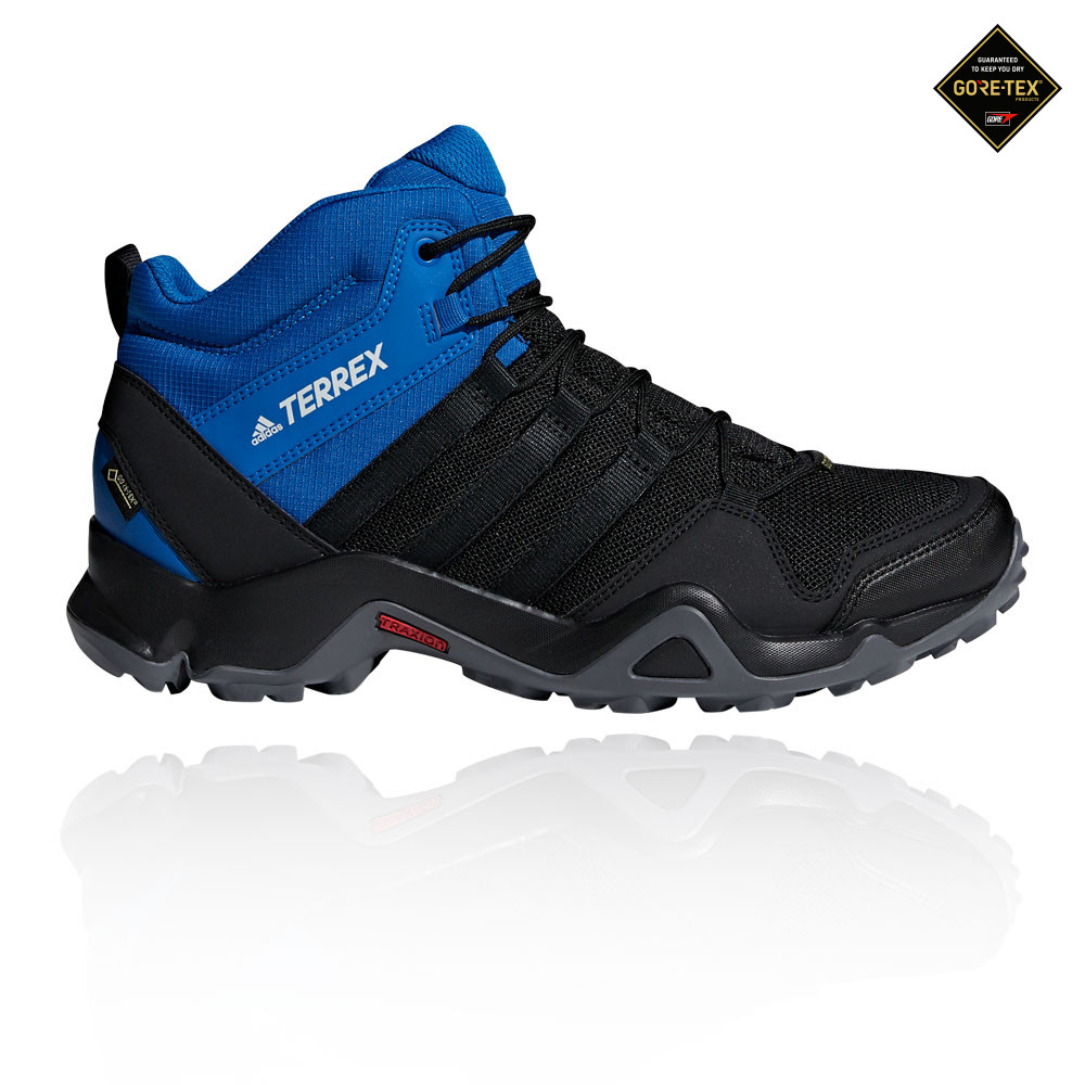 finest selection 4e31a 6ff65 adidas Mens Terrex AX2R Mid GORE-TEX Walking Shoes Black Blue Outdoors