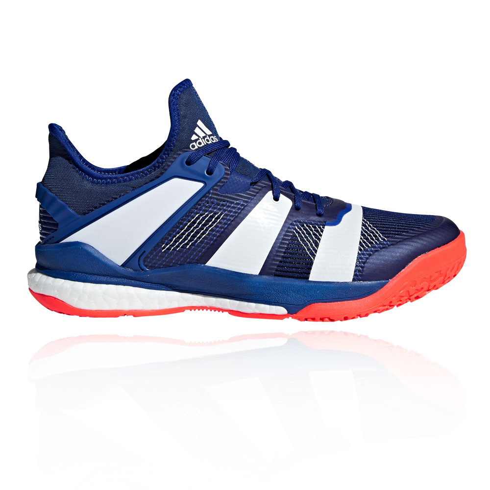 new styles f078c d0be1 adidas Mens Stabil X Indoor Court Shoes Blue Sports Handball Breathable  Trainers