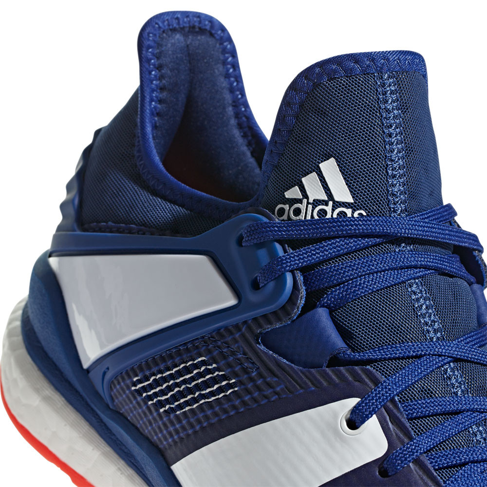 1802798e158 adidas Mens Stabil X Indoor Court Shoes Blue Sports Handball Breathable  Trainers