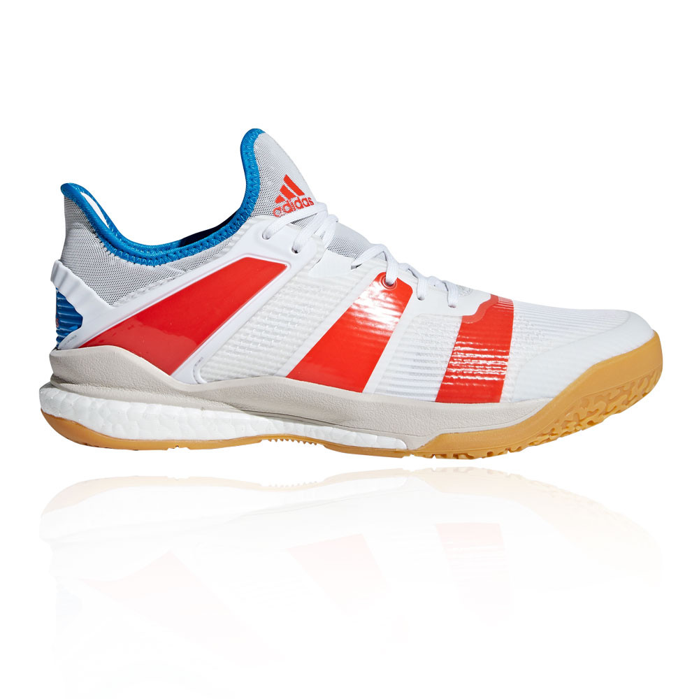 pretty nice 17757 49eda adidas Mens Stabil X Indoor Court Shoes White Sports Handball Breathable
