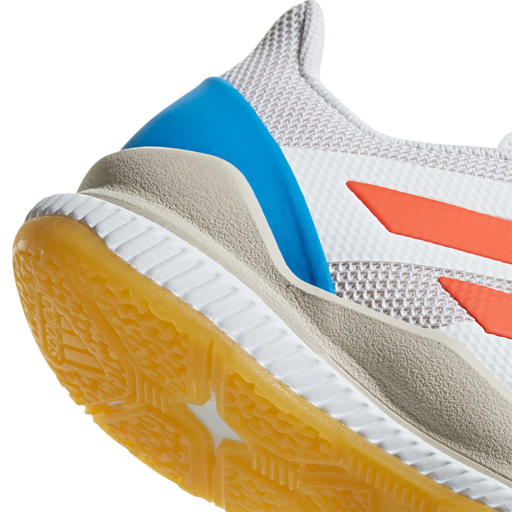 new product 069f3 9e50d adidas Mens Stabil Bounce Court Shoes White Sports Handball Breathable  Trainers