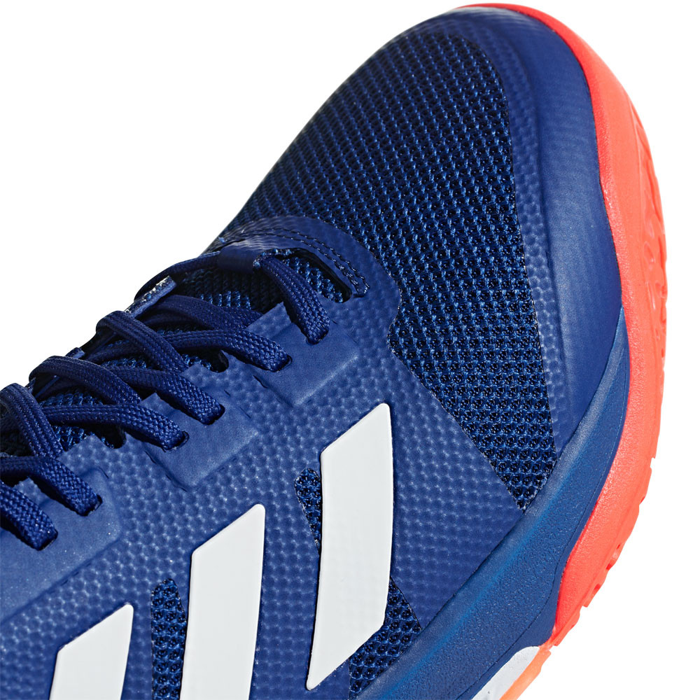 new concept 2ae9e f3681 adidas Uomo Stabil Bounce Scarpe da Ginnastica Interne Sala Sport Blu  Pallamano