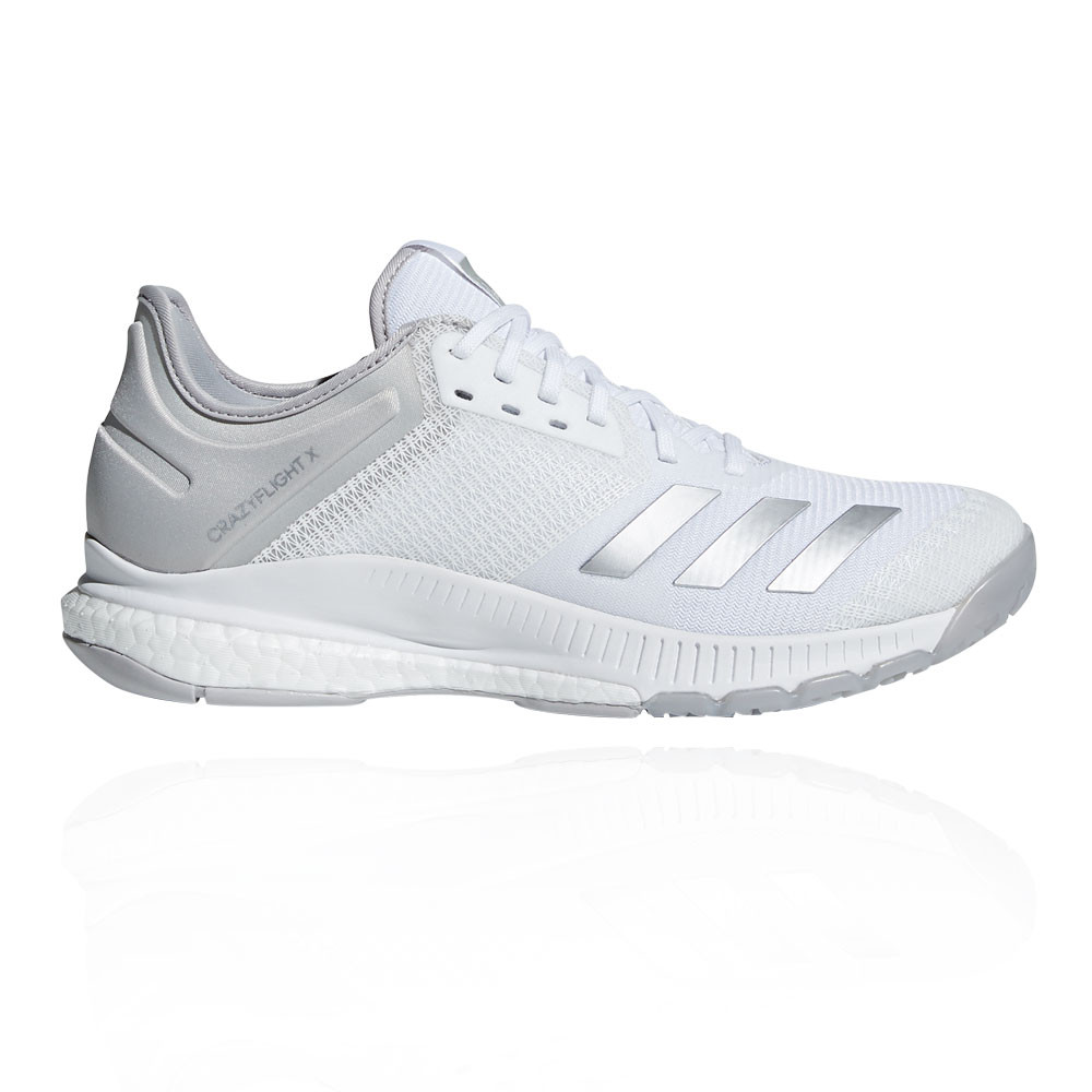 fa13c1cc8 Details about adidas Womens crazyflight X 2.0 Court Shoes White Sports  Basketball Trainers