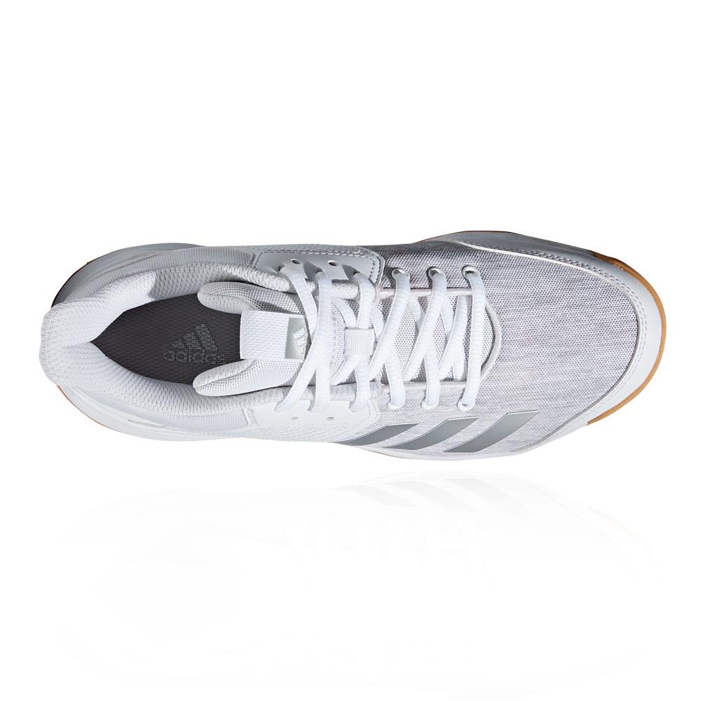 0009b52b75a adidas Womens Ligra 6 Court Shoes White Sports Handball Netball Trainers