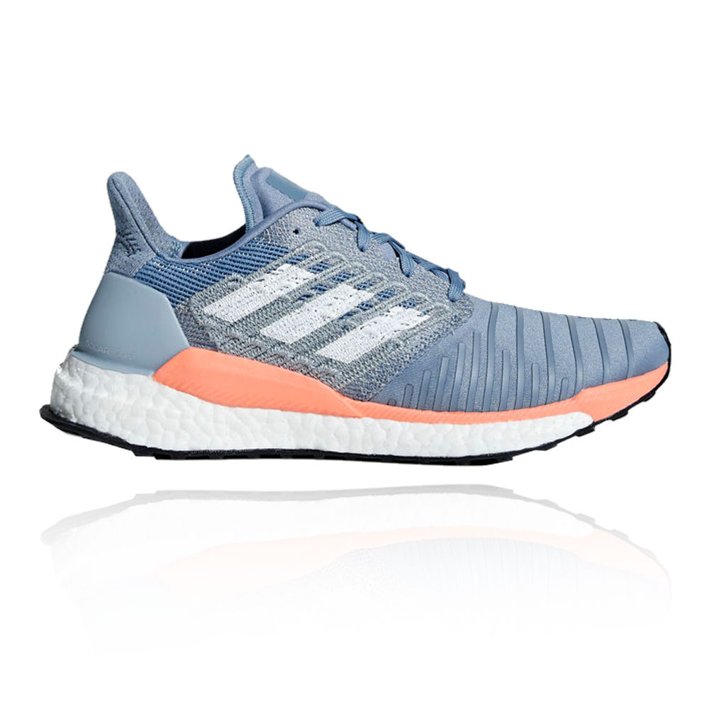 best service 2d634 e5446 Details about adidas Womens Solar Boost Running Shoes Trainers Sneakers  Blue Sports Breathable