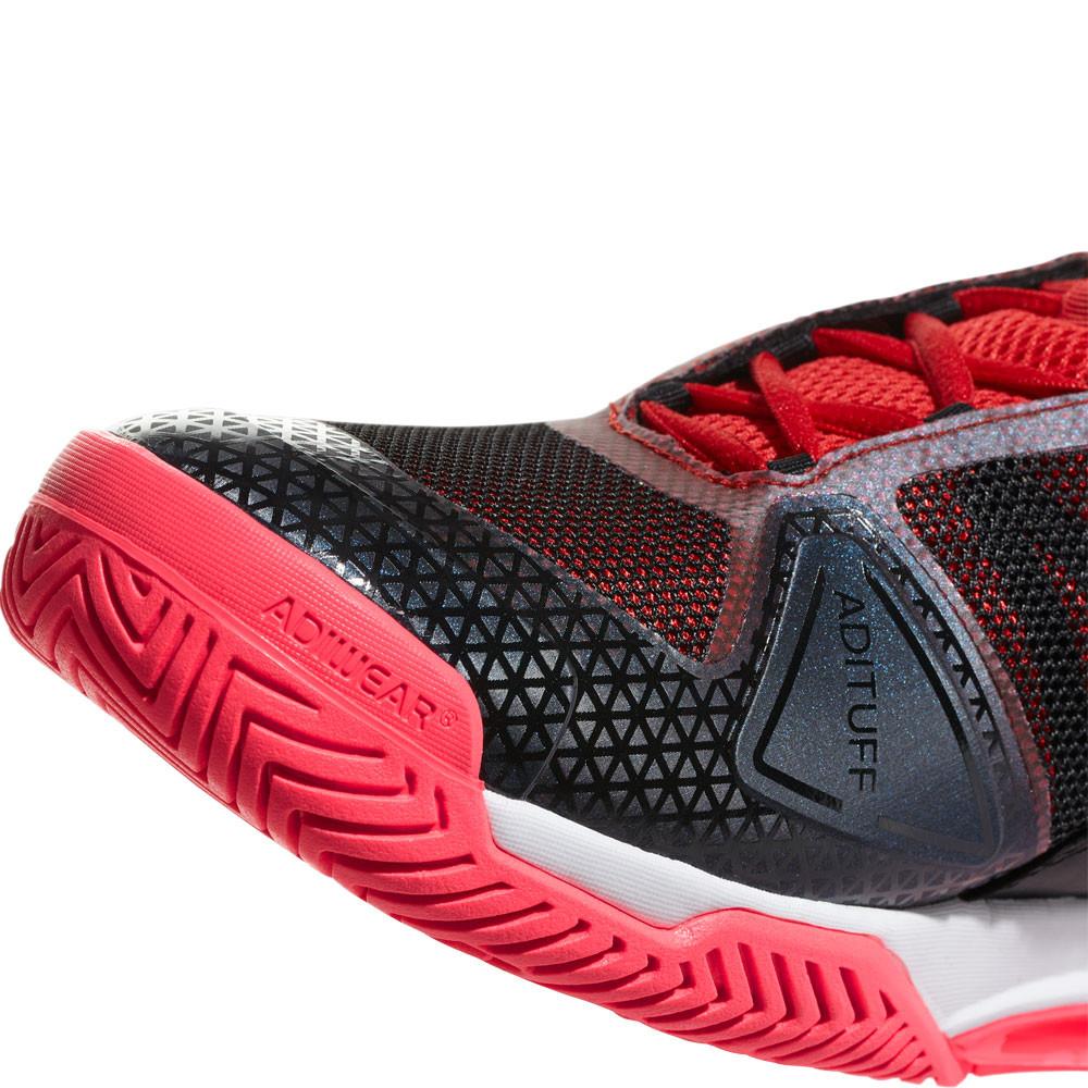 outlet store 4747c a17b7 adidas Uomo Barricade Club Scarpe Da Tennis Nero Rosso Sport Traspiranti  Leggere