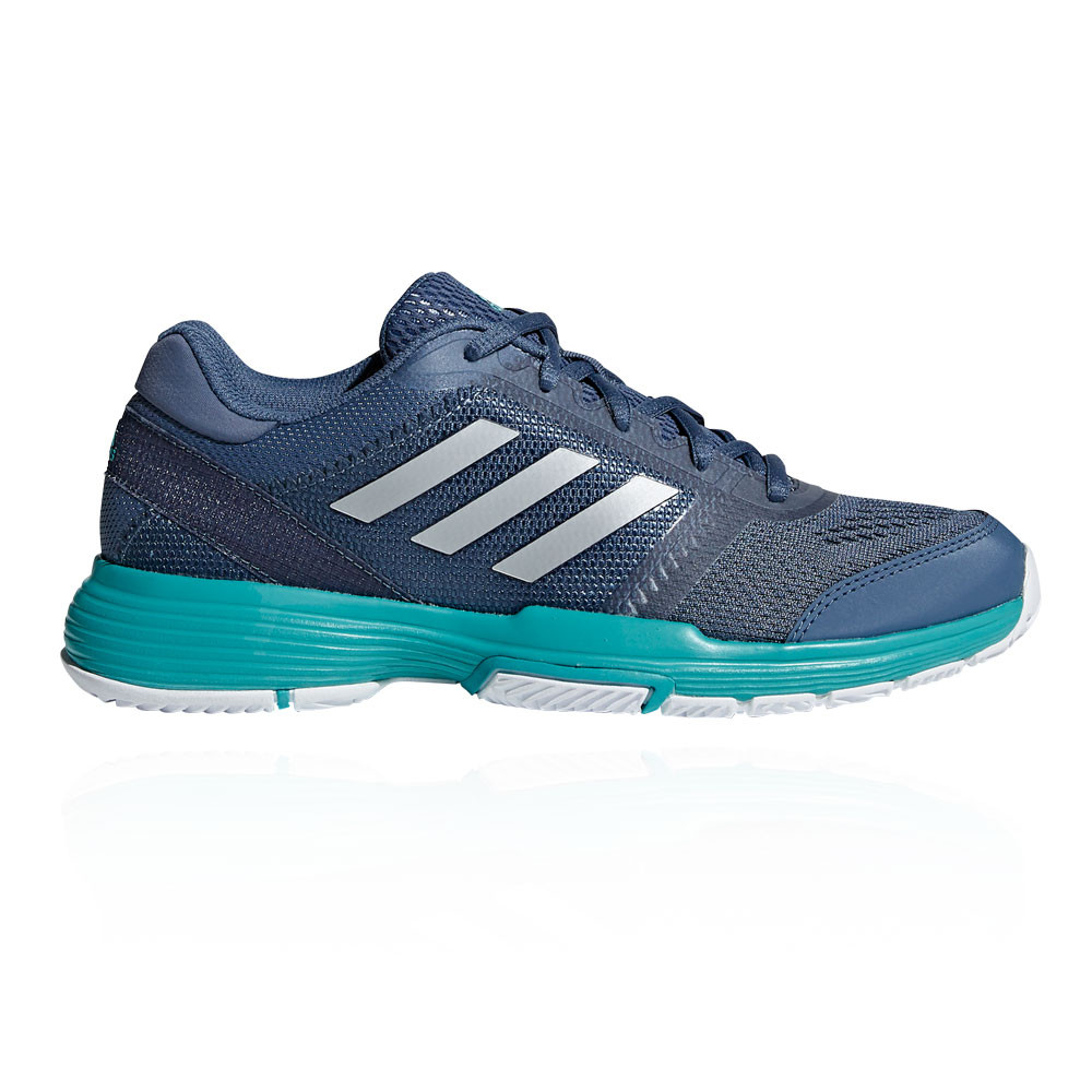 9dab434f50b Details about adidas Womens Barricade Club Tennis Shoes Blue Sports  Breathable Lightweight