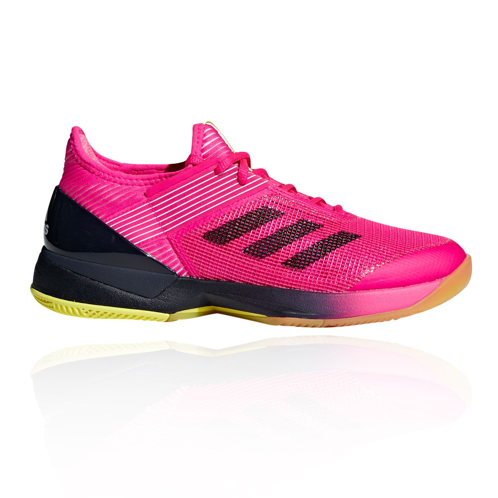 8ac2d5150 adidas Womens Ubersonic 3 Court Shoe Pink Sports Tennis Breathable  Lightweight