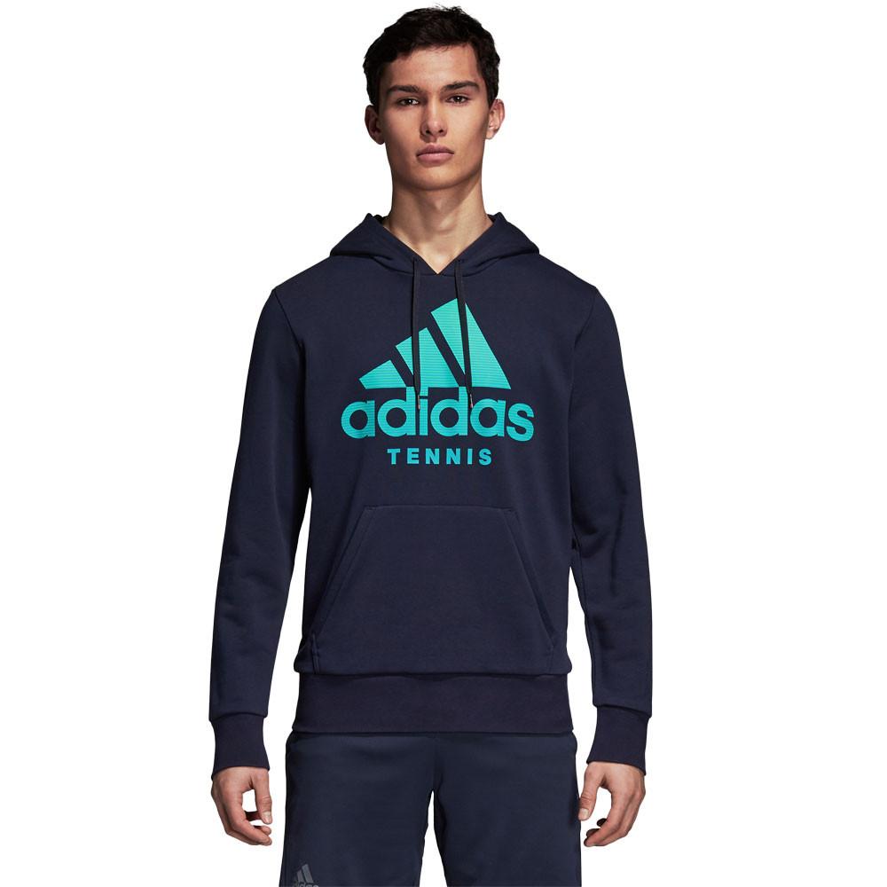 adidas Uomo Category Felpa Con Cappuccio Blu Marino Sport Tennis Traspirante 86e5ecbb62dd