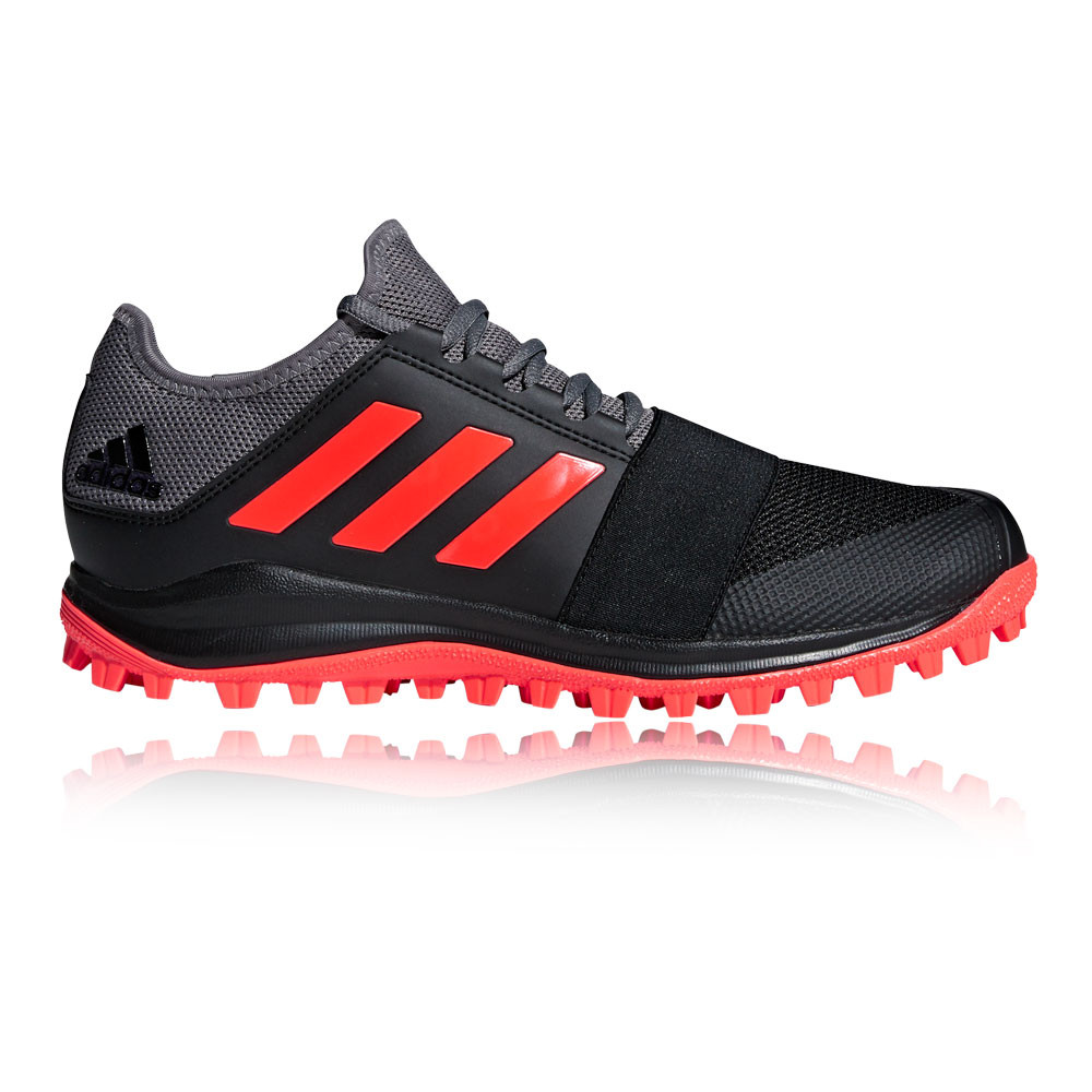 about Pitch adidas Field Sports Black Divox 1 Mens Red 9S Breathable Hockey Shoes Details 8qd648