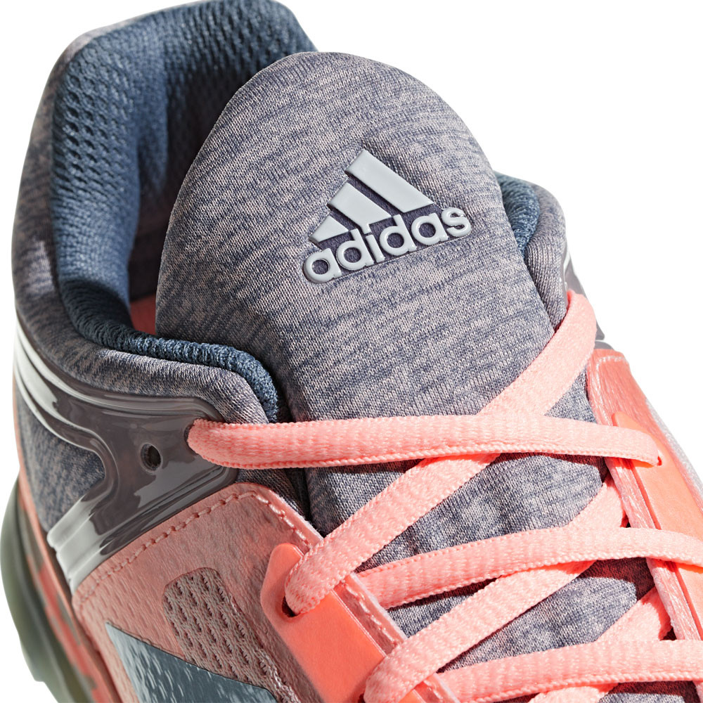 separation shoes 101f2 82fc3 adidas Womens Fabela Zone Hockey Shoes Pitch Field Grey Pink Breathable  Trainers