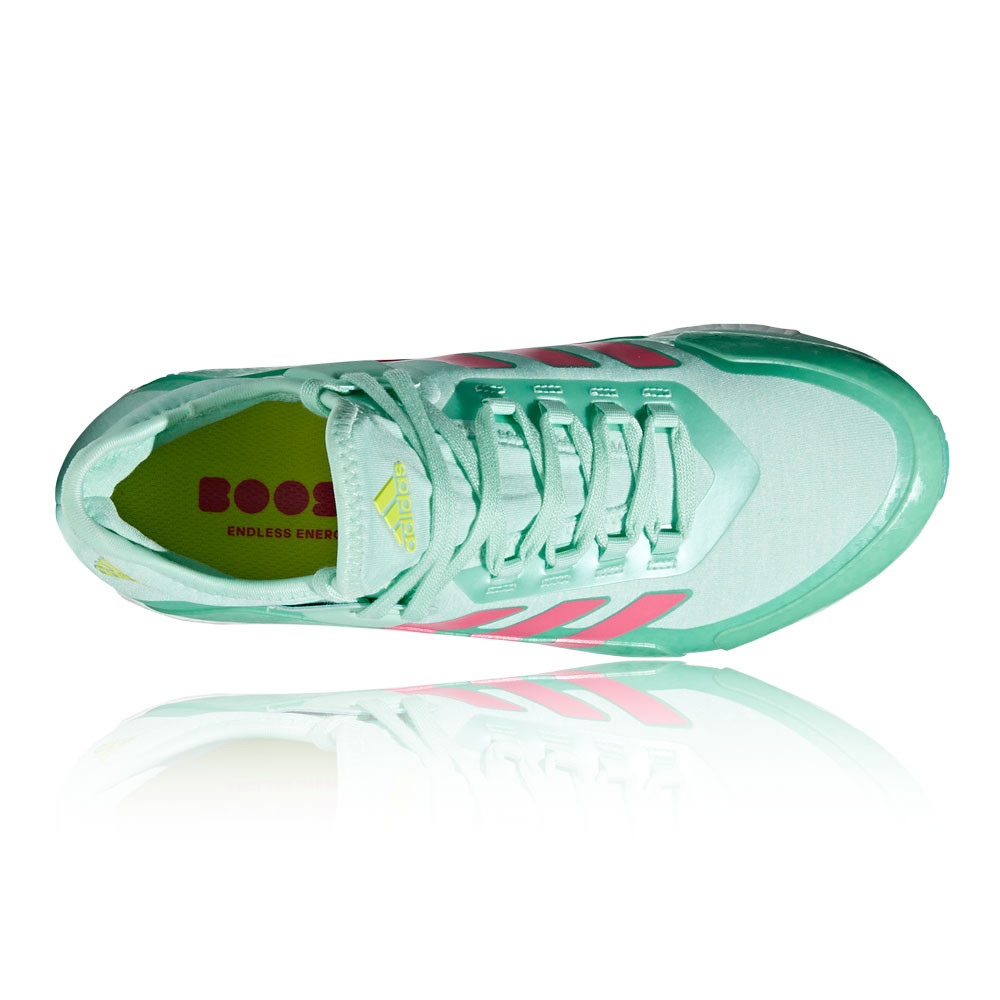 new arrival c689a 2c2ce adidas Womens Fabela X Hockey Shoes Pitch Field Green Lightweight Trainers