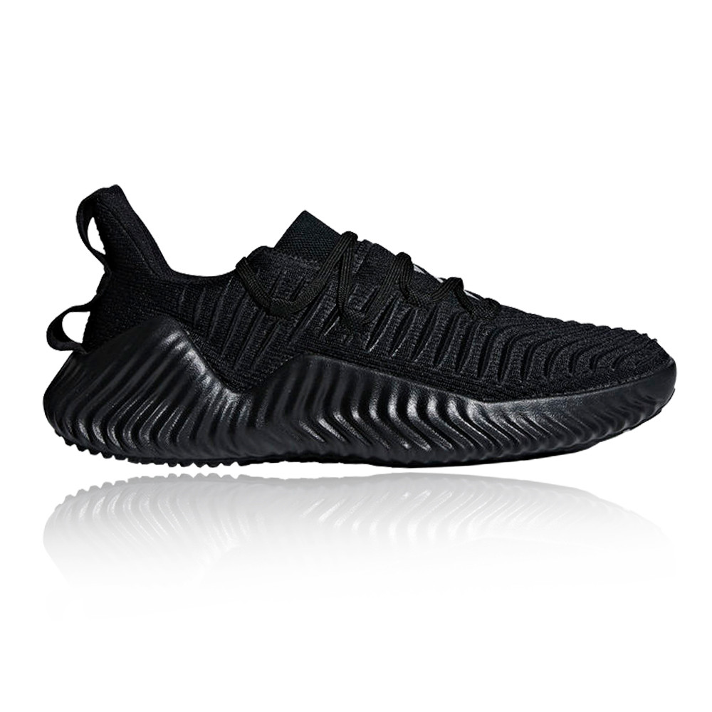 adidas Hommes AlphaBOUNCE Trainer Noir Sports Gym Breathable Lightweight