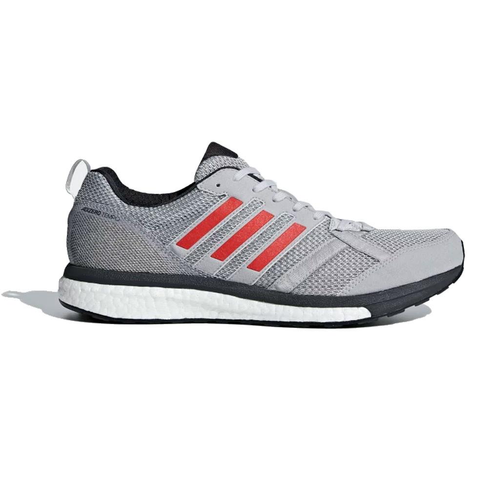 b3e15fb0 Adidas Hombre Adizero Tempo 9 Correr Zapatos Zapatillas Gris Deporte Running