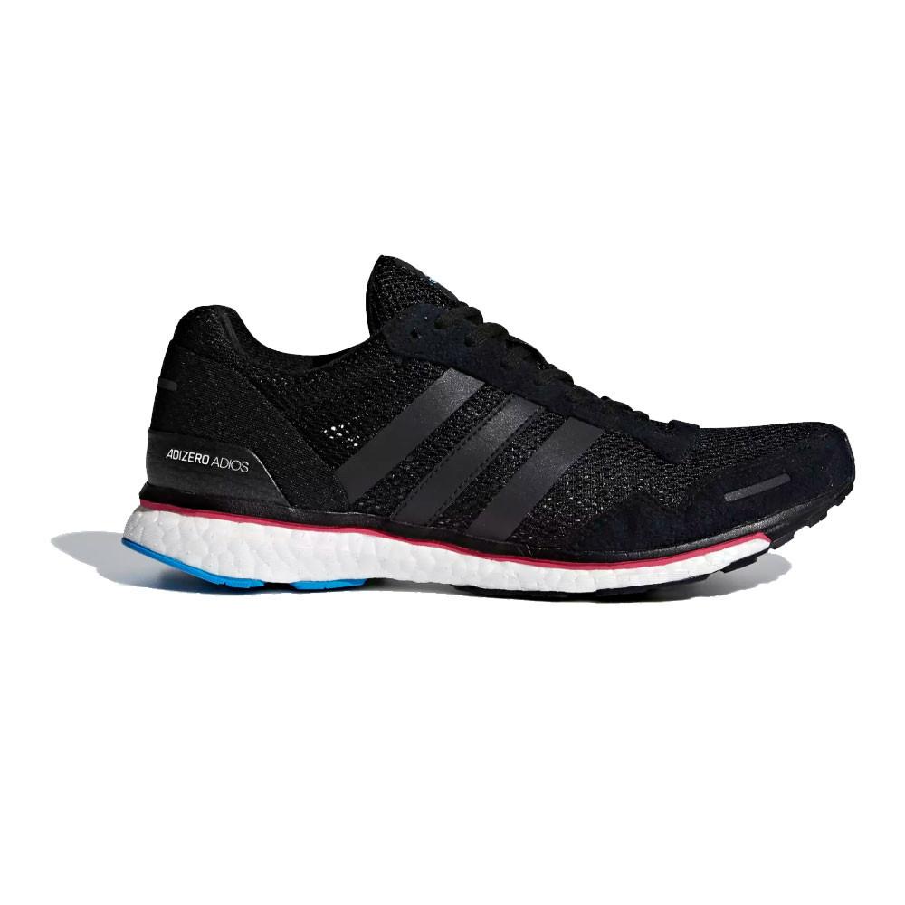 the latest a2f17 c6595 Adidas Mujer Adizero Adios 3 Correr Zapatos Zapatillas Negro Deporte Running