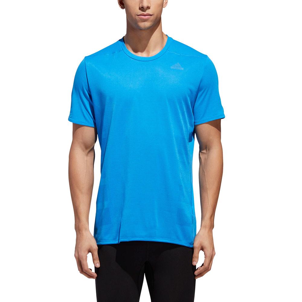 new product cca11 84ecf Adidas Hommes Supernova Jogging T-Shirt Tee Top Bleu Sport Respirant Léger