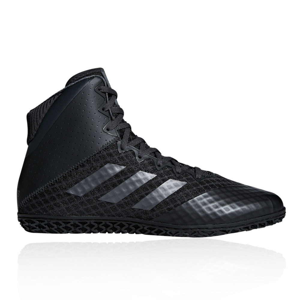 0e62c75af8090a Details about adidas Mens Mat Wizard 4 Wrestling Shoes Black Sports Gym  Breathable Lightweight