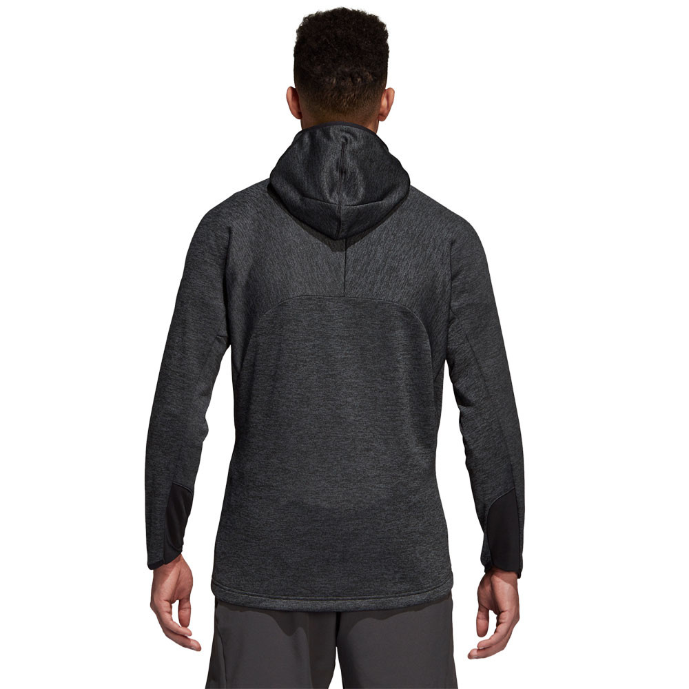 brand new 6e04a 5bf0b Details about adidas Mens Freelift Climawarm Hoodie Black Sports Gym Full  Zip Hooded Warm